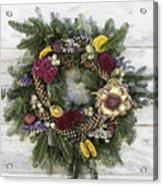 Williamsburg Wreath 10b Acrylic Print
