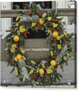 Williamsburg Wreath 18 Acrylic Print