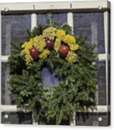 Williamsburg Wreath 25 Acrylic Print