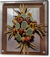 Williamsburg Wreath 35 Acrylic Print
