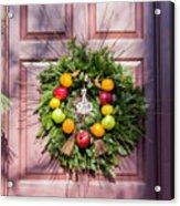 Williamsburg Wreath 53 Acrylic Print