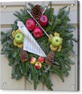 Williamsburg Wreath 87 Acrylic Print