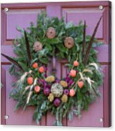 Williamsburg Wreath 92 Acrylic Print