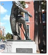 Willie Mays At San Francisco Giants Att Park . 7d7636 Acrylic Print by Wingsdomain Art and Photography