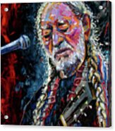 Willie Nelson Portrait Acrylic Print