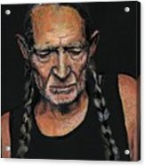 Willie Acrylic Print by Someone Jenkins
