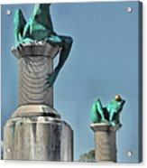 Willimantic Frogs Acrylic Print