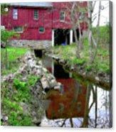 Williston Mill Reflections Acrylic Print