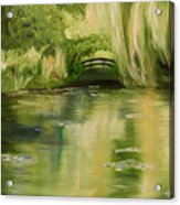 Willow At Monet Acrylic Print