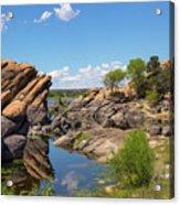 Willow Lake And Granite Dells Acrylic Print