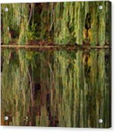Willow Reflection Acrylic Print