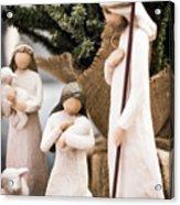 Willow Tree Nativity At Christmas Acrylic Print