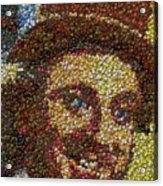Willy Wonka Fizzy Lifting Bottle Cap Mosaic Acrylic Print