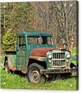 Willys Jeep Pickup Truck Acrylic Print