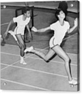 Wilma Rudolph 1940-1994 At The Finish Acrylic Print by Everett