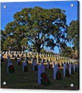 Wilmington National Cemetery Christmas Acrylic Print