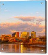 Wilmington Skyline At Sunset Acrylic Print