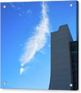 Wilson Hall At Fermilab With Cloud Acrylic Print