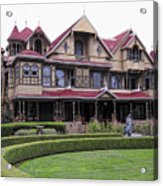 Winchester Mystery House Acrylic Print by Daniel Hagerman