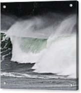 Wind And Waves In Oregon Acrylic Print