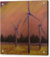Wind And Wheat Acrylic Print