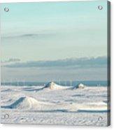 Wind Farm On Frozen Erie Acrylic Print