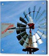 Wind Mill Pump In Usa 2 Acrylic Print