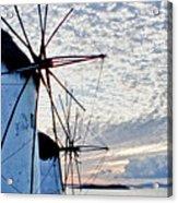 Wind Mills Of Mykonos Acrylic Print