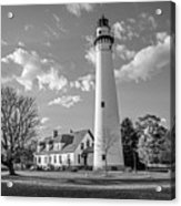 Wind Point Lighthouse And  Old Coast Guard Keepers Quarters  3 Acrylic Print