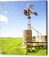 Wind Powered Farming Station Acrylic Print
