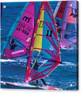 Wind Surfers In Nassau Acrylic Print