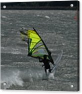 Wind Surfing On The Columbia Acrylic Print