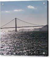 Wind Surfing Under The Bridge Acrylic Print