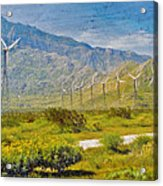 Wind Turbine Farm Palm Springs Ca Acrylic Print