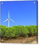 Wind Turbines Landscape Acrylic Print