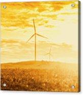 Windfarm Sunset Acrylic Print