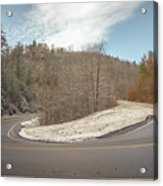 Winding Country Road In Winter Acrylic Print