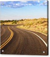 Winding Desert Road At Sunset Acrylic Print