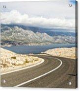 Winding Road In Croatia Acrylic Print