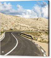 Winding Road On The Pag Island In Croatia Acrylic Print