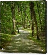 Winding Trails At Bur Mil Park  Acrylic Print