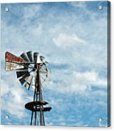 Windmill And Clouds Acrylic Print