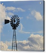 Windmill And Sky Acrylic Print