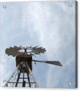 Windmill And Sky Acrylic Print