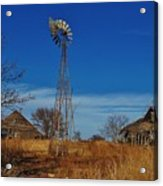 Windmill At An Old Farm In Kansas Acrylic Print