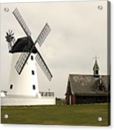 Windmill At Lytham St. Annes - England Acrylic Print