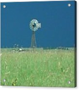 Windmill Before Storm Acrylic Print