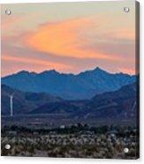 Windmill Desert Sunset Acrylic Print