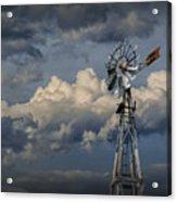 Windmill Energy On Old Prairie Farm Acrylic Print