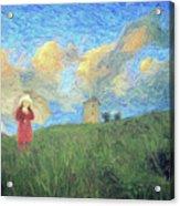 Windmill Girl Acrylic Print